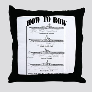 Vintage - How to Row Throw Pillow