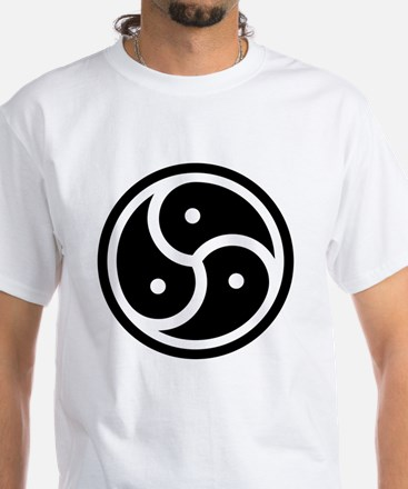 BDSM Triskelion White T-Shirt