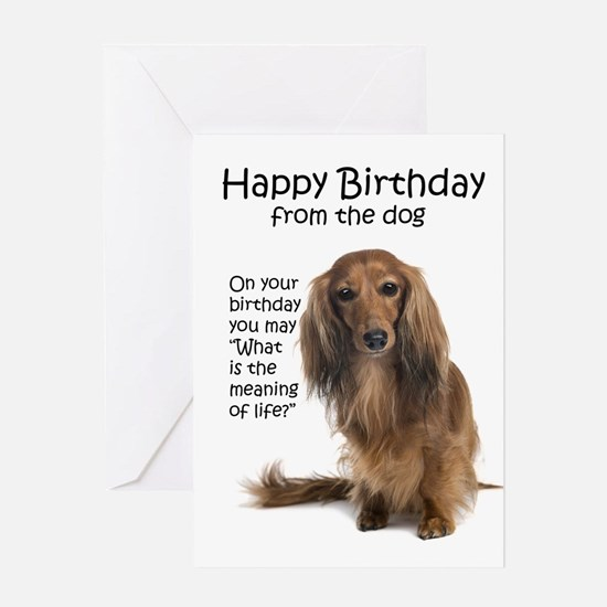 Funny Dachshund Birthday Greeting Card