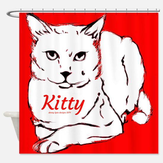 Kitty Name Shower Curtain