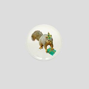 Birthday Squirrel Mini Button