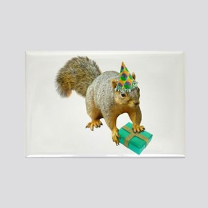 Birthday Squirrel Rectangle Magnet