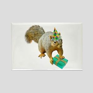 Birthday Squirrel Rectangle Magnet