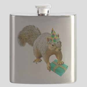 Birthday Squirrel Flask