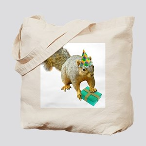 Birthday Squirrel Tote Bag