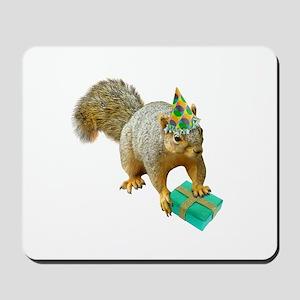 Birthday Squirrel Mousepad