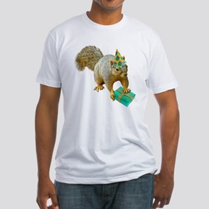 Birthday Squirrel Fitted T-Shirt