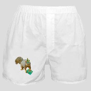 Birthday Squirrel Boxer Shorts