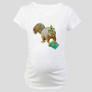 Birthday Squirrel Maternity T-Shirt