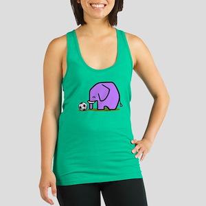 Soccer Elephant(1) Racerback Tank Top