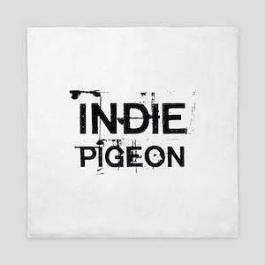 INDIE PIGEON Logo Queen Duvet