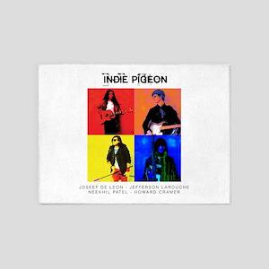 INDIE PIGEON Poster 5'x7'Area Rug