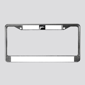 Pistol Logo W on B License Plate Frame