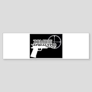 Pistol Logo W on B Bumper Sticker