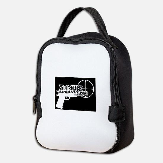 Pistol Logo W on B Neoprene Lunch Bag