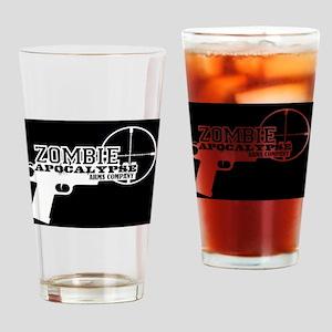 Pistol Logo W on B Drinking Glass