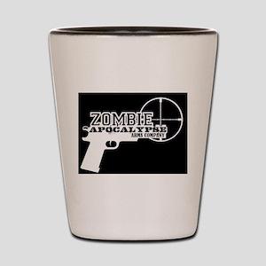 Pistol Logo W on B Shot Glass