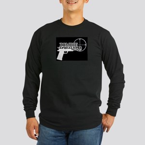 Pistol Logo W on B Long Sleeve T-Shirt