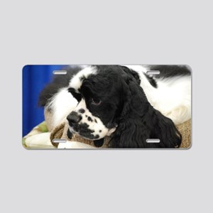 Cocker Spaniel Aluminum License Plate