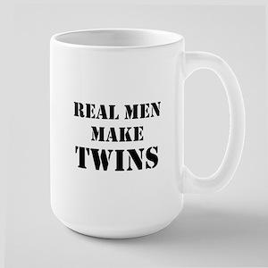 Real Men Make Twins Large Mug