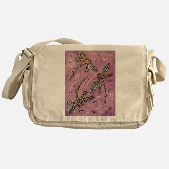 Dragonflies Pink Fizz Messenger Bag