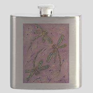 Dragonflies Pink Fizz Flask