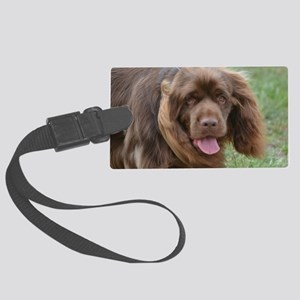 Sussex Spaniel Large Luggage Tag