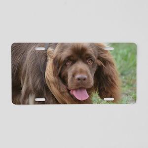 Sussex Spaniel Puppies Aluminum License Plates Cafepress