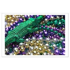 Mardi Gras Alligator Beads Posters