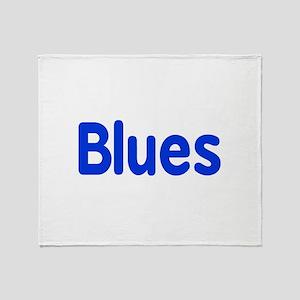 Blues word blue music design Throw Blanket