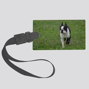 Classic Boston Terrier Dog Large Luggage Tag