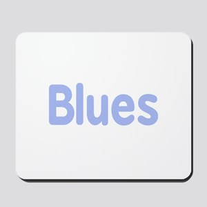 Blues word cornflower music design Mousepad