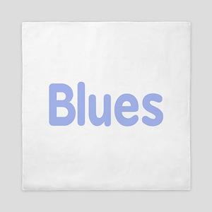 Blues word cornflower music design Queen Duvet