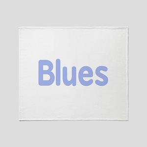 Blues word cornflower music design Throw Blanket