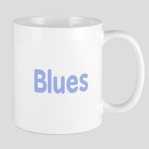 Blues word cornflower music design Mugs