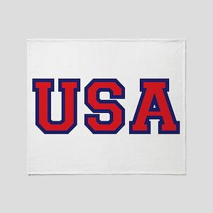 Usa Logo Throw Blanket