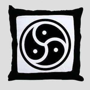 BDSM Triskelion Throw Pillow