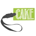 Cake. -- Large Luggage Tag