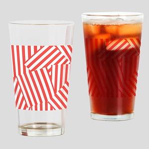 Fresh Melon Clash Stripe Drinking Glass