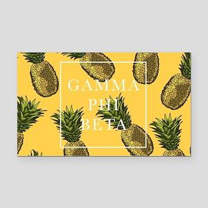 Gamma Phi Beta Pineapples Rectangle Car Magnet