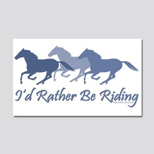 rather be riding horses Car Magnet 20 x 12