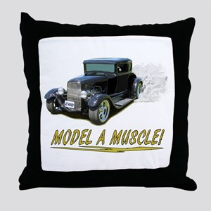 Model A Muscle! Throw Pillow