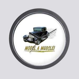 Model A Muscle! Wall Clock