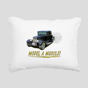 Model A Muscle! Rectangular Canvas Pillow