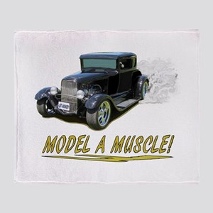 Model A Muscle! Throw Blanket