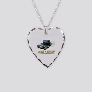 Model A Muscle! Necklace Heart Charm