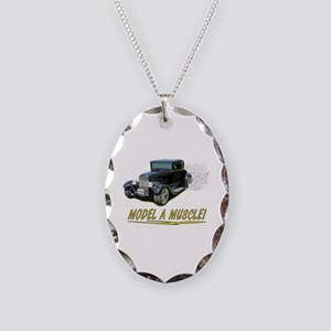 Model A Muscle! Necklace Oval Charm