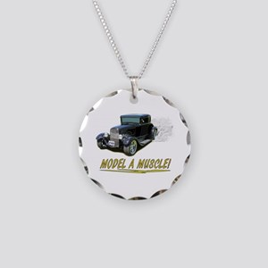Model A Muscle! Necklace Circle Charm