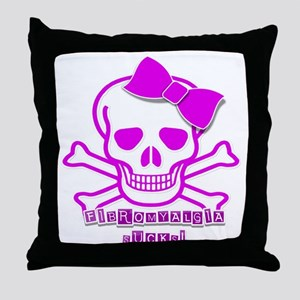 FIBROMYALGIA SKULL Throw Pillow