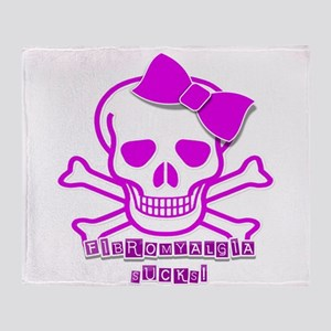 FIBROMYALGIA SKULL Throw Blanket